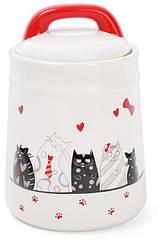 Банка керамическая Bona I Love My Cat 1 л BD-DM007-Cpsg, КОД: 170573