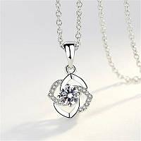 Женский кулон в виде цветка, медсплав, кулон серебреного цвета  СС1723-75