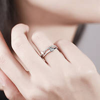 """Женское кольцо """"Сердца"""", кольцо с двумя сердцами, кольцо из медицинского сплава СС1718-65"""