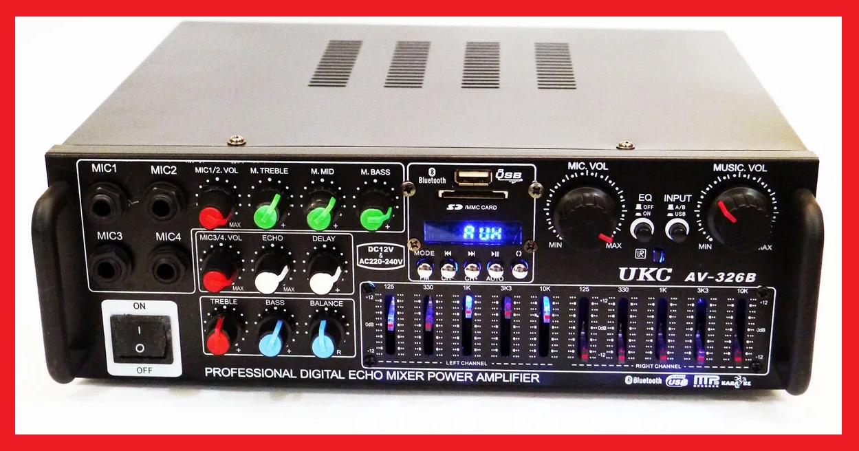 UKC AV-326BT Bluetooth Караоке усилитель мощности звука