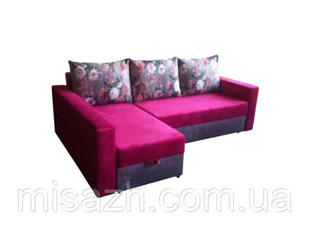 """Угловой диван """"Бали"""" розово-серый. витрина 98."""