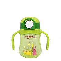 Поїльник Mumlove c кнопкою 200 мл(зелений), фото 1