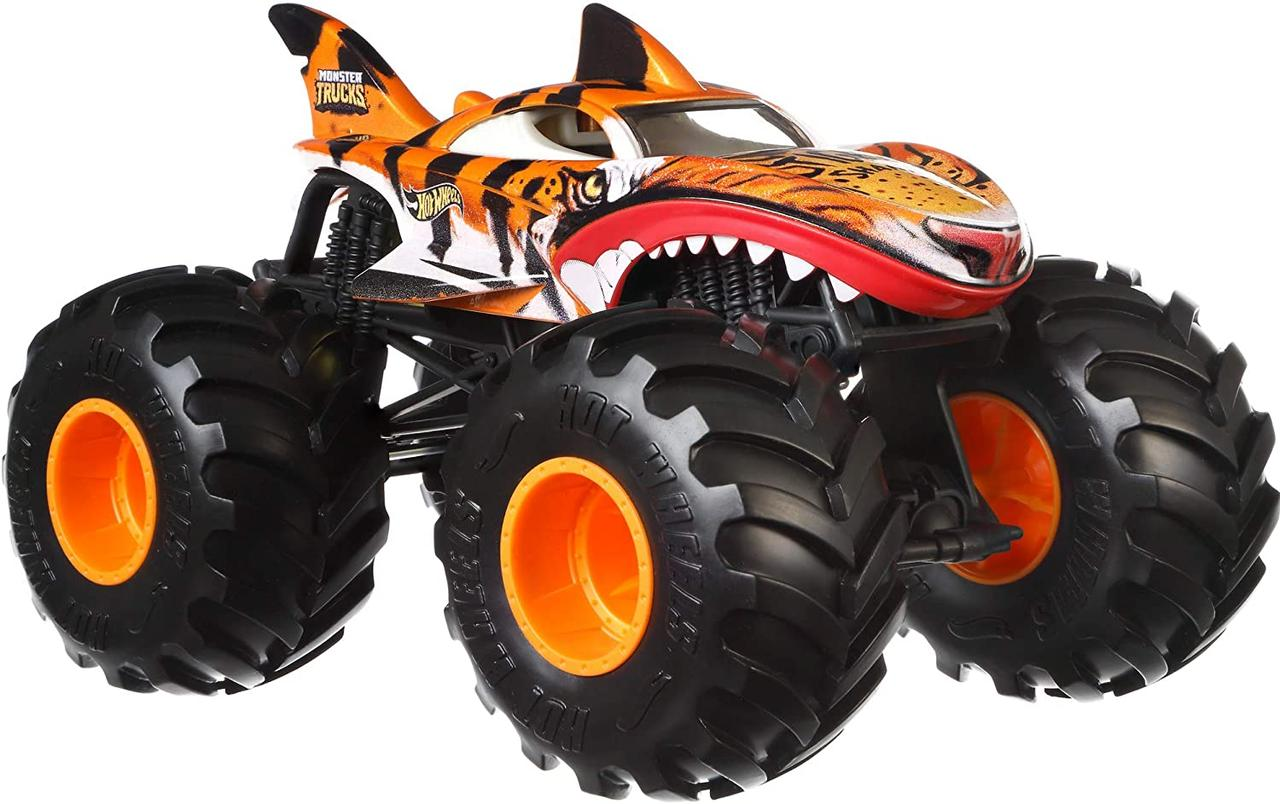 Машина Монстр трак Хот Вилс Тигровая акула Hot Wheels Monster Trucks Tiger Shark