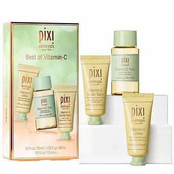 Набір освітлювальної косметики для особи Pixi Best of Vitamin C 15+40+15 мл