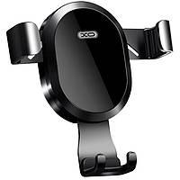 Автомобильный держатель беспроводная зарядка XO 10W (WX015) Black