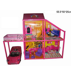 Кукольный чудо домик. Двухэтажный кукольный домик.Игровой кукольный домик.Игрушка для девочек.