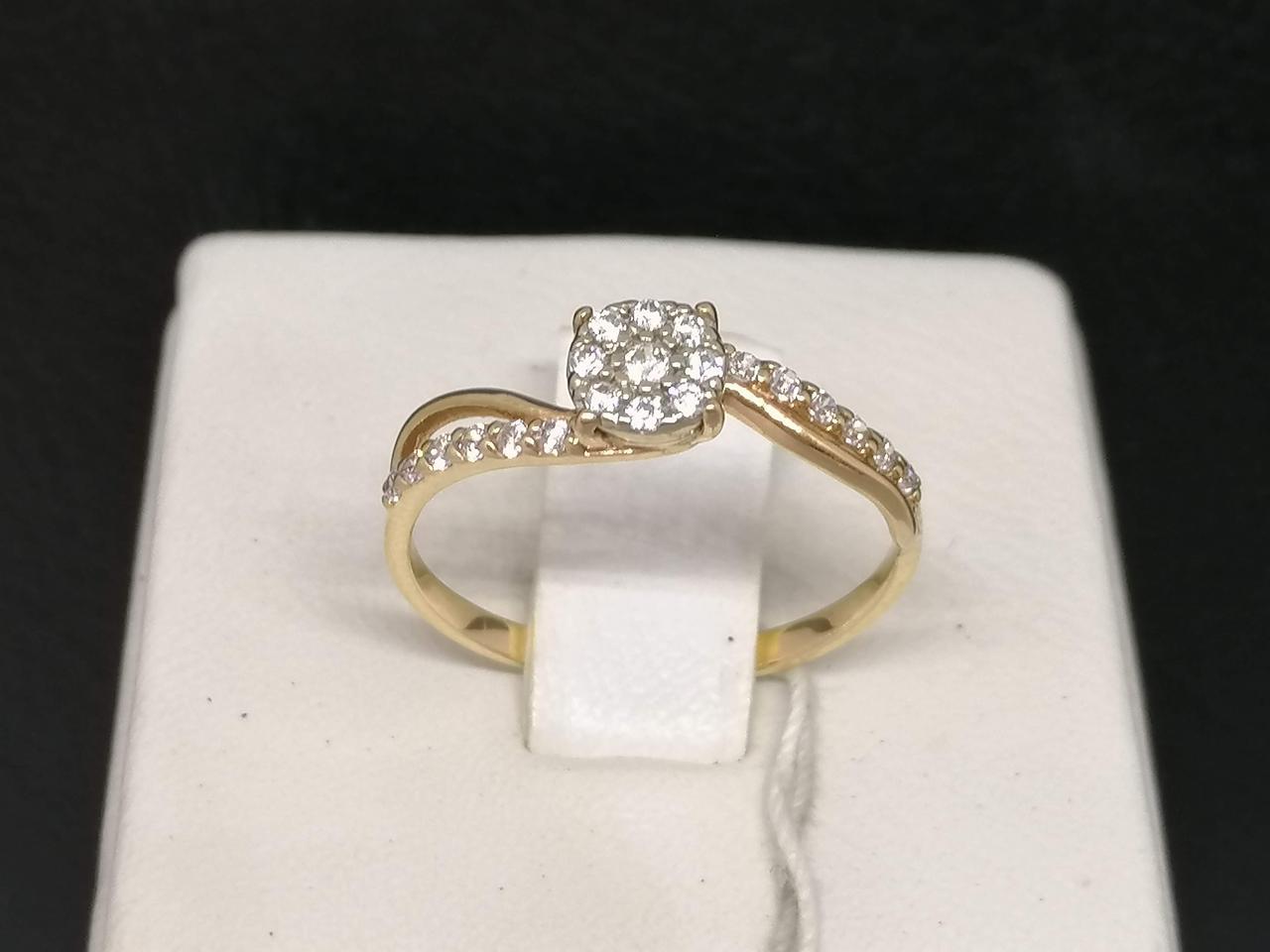 Золотое кольцо с фианитами. Артикул 3523356 17