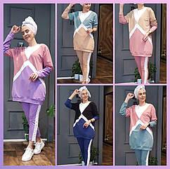 Женский спортивный костюм полубатал SK0006, разные цвета, двунитка, 50/52-54/56