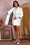 Пальто женское KOTT мини демисезонное плотный кашемир (серый, белый, р.48-52 UNI), фото 6