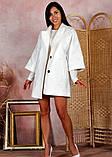 Пальто женское KOTT мини демисезонное плотный кашемир (серый, белый, р.48-52 UNI), фото 5