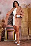 Пальто женское KOTT мини демисезонное плотный кашемир (серый, белый, р.48-52 UNI), фото 8
