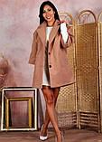 Пальто женское KOTT мини демисезонное плотный кашемир (серый, белый, р.48-52 UNI), фото 7