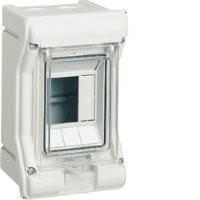 Щит наружной установки с прозрачной дверцей, 3 модуля, Hager Vector IP65