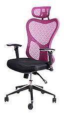 Офисный стул Barsky Fly-02 Butterfly Black/Bordo, сетка, фото 2
