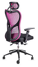 Офисный стул Barsky Fly-02 Butterfly Black/Bordo, сетка, фото 3