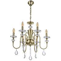 Люстра свеча подвесная хрустальная классическая BCL-710S/6 E14 AB, фото 1
