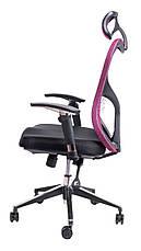 Кресло для врача Barsky Fly-02 Butterfly Black/Bordo, сеточное кресло, черный / бордовый, фото 2