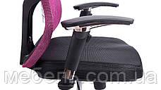 Кресло для врача Barsky Fly-02 Butterfly Black/Bordo, сеточное кресло, черный / бордовый, фото 3