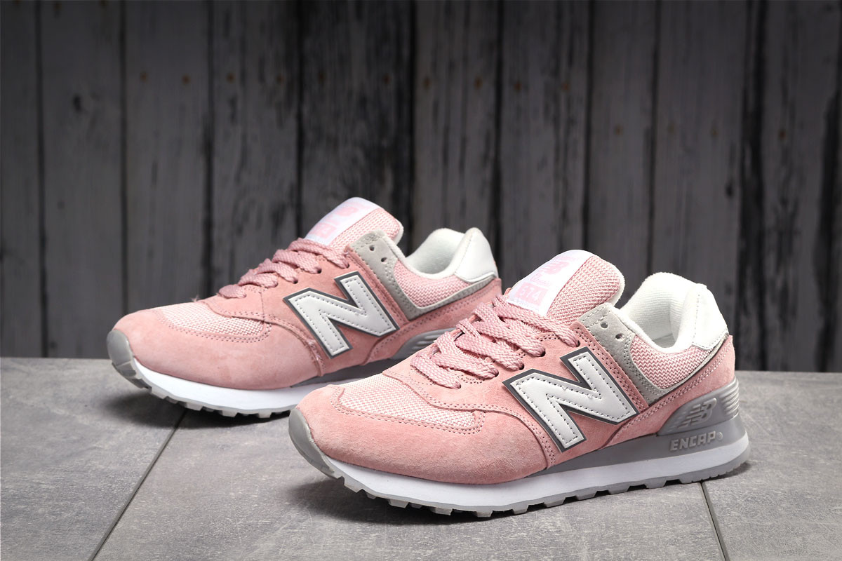 Кроссовки женские 17883 ► New Balance  574, светло-розовые . [Размеры в наличии: ]