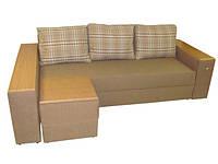 """Угловой диван """"Бостон"""" с МДФ накладкой на пуф. витрина 63., фото 1"""