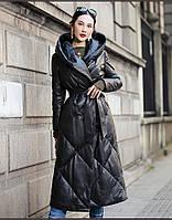 Кожаная куртка из овчины, пальто с капюшоном