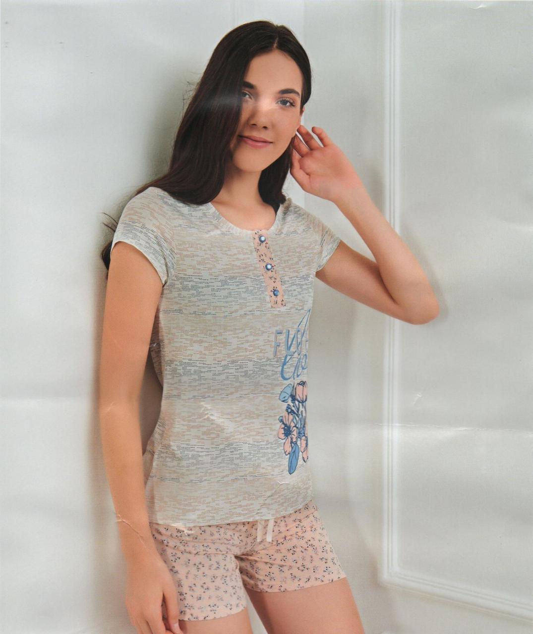 """Жіночі піжами,комплекти(шортики з футболкою)""""Pink secret"""" Туреччина Art-5580"""