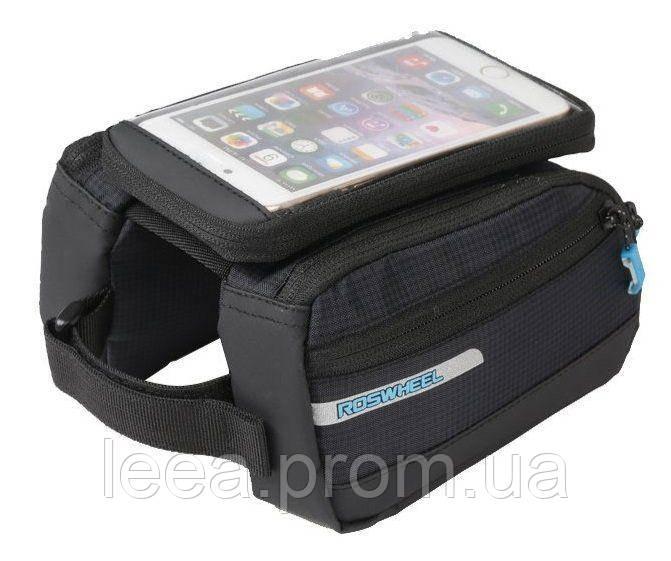Велосипедна сумка під смартфон з кріпленням на раму Roswheel Lohas 121273-A