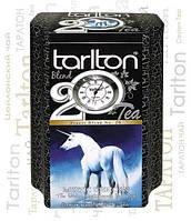 Чай черный листовой Тарлтон FBOP1 Mystic Unicorn Tarlton с типсами 200 г в жестяной банке с часами