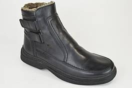 Ботинки мужские Calif 504 черные кожа мех 40 размер