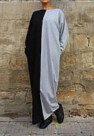 Платье в пол свободного силуэта