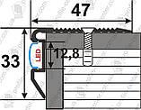 Порожек угловой для ступеней А47*33 с LED подсветкой, фото 2