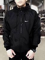 Мужская ветровка черная Nike Windrunner