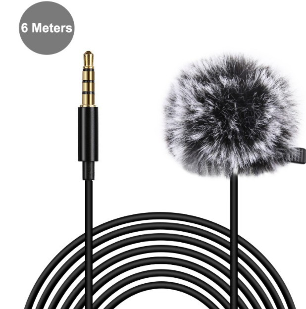 Петличный микрофон Puluz 6m(3.5mm)