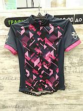 Велофутболка Crivit Sports - размер L, Чёрный/Розовый