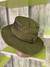 Панама тактическая, Olive палаточная ткань 100% х \ б, фото 3