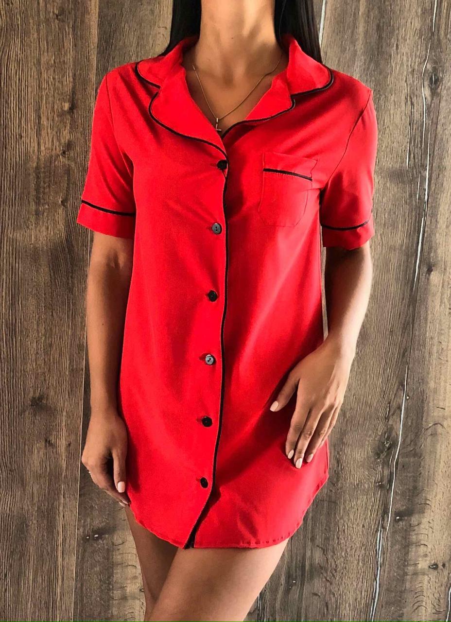 Красное стильное платье для дома  ТМ Exclusive 014.