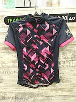 Велофутболка Crivit Sports - размер M, Чёрный/Розовый