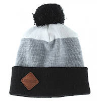 Шапка мужская зимняя с помпоном Zdes 3 color серая (модные молодежные,  шапки с бубоном)