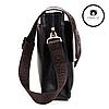 Мужская сумка через плечо  + Подарок! Polo Videng (24х21х7 см)  Черная и Коричневая, фото 5