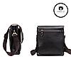 Мужская сумка через плечо  + Подарок! Polo Videng (24х21х7 см)  Черная и Коричневая, фото 6