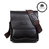 Мужская сумка через плечо  + Подарок! Polo Videng (24х21х7 см)  Черная и Коричневая, фото 9