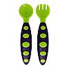 Набор ложка+вилка в футляре (фиолетово-зелёный)