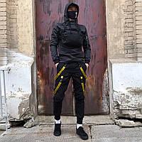Комплект мужской Scarstrope c желтыми стропами (штаны, нагрудная сумка, маска)