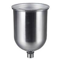 Металевий Бачок для фарбопульта 600 мл (внутрішня різьба) AUARITA PPC-600GLD