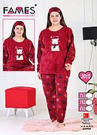Пижама женская  мишка 50-52 размер, фото 1