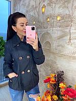 Стильная женская курточка, черная, 211-9109