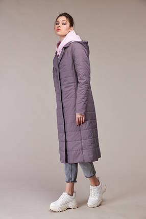 Красивое стеганое пальто из плащевой ткани на утеплителе стежка размер 48-60, фото 2