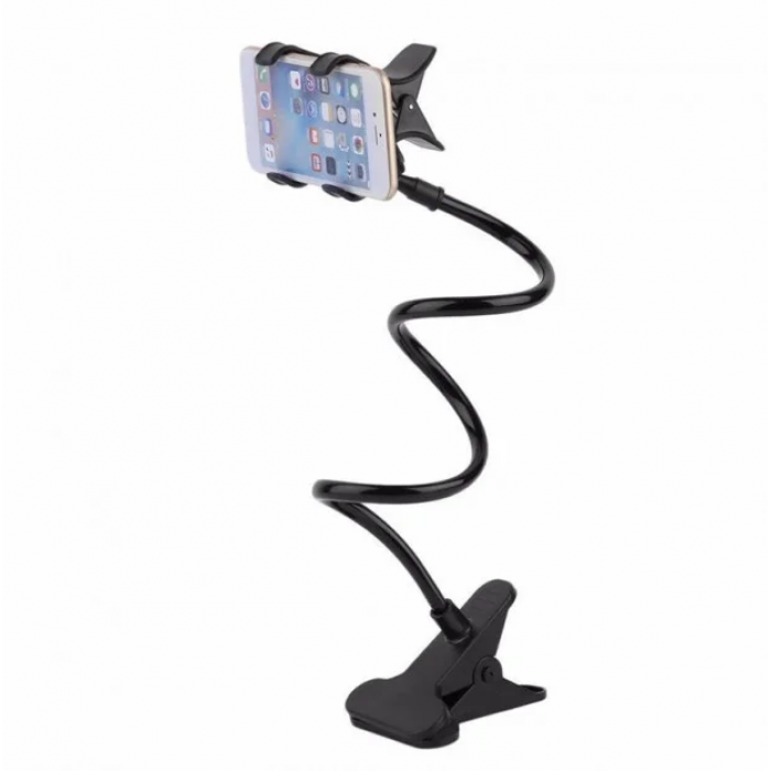 Универсальный гибкий держатель для телефона с прищепкой 3