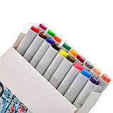 Набор скетч-маркеров для рисования двусторонних Santi sketchmarker , 18 шт/уп     код: 390527, фото 3