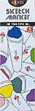 Набор маркеров для скетчей  Santi sketch Seascape, 6 шт/уп.     код: 390567, фото 2